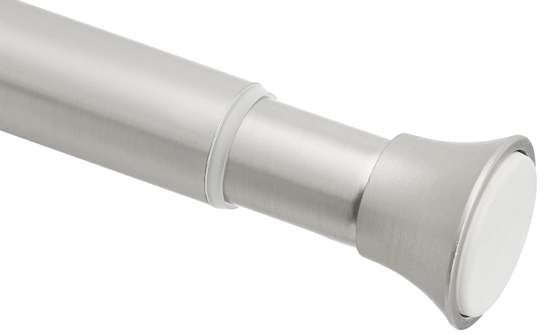 "AmazonBasics Tension Curtain Rod - 54-90"", Nickel"