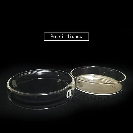 60mm Glas Tücher Petrischale Kultur Teller Teller mit DeckelJ8DE