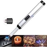 Kivors Electric Lighter, Infrared Ray Laser Lighter USB Rechargeable Windproof Dual Arc Plasma Cigarette Lighter Flameless Rechargeable Lighter