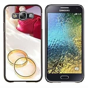 LECELL--Funda protectora / Cubierta / Piel For Samsung Galaxy E5 E500 -- Promesa de amor --