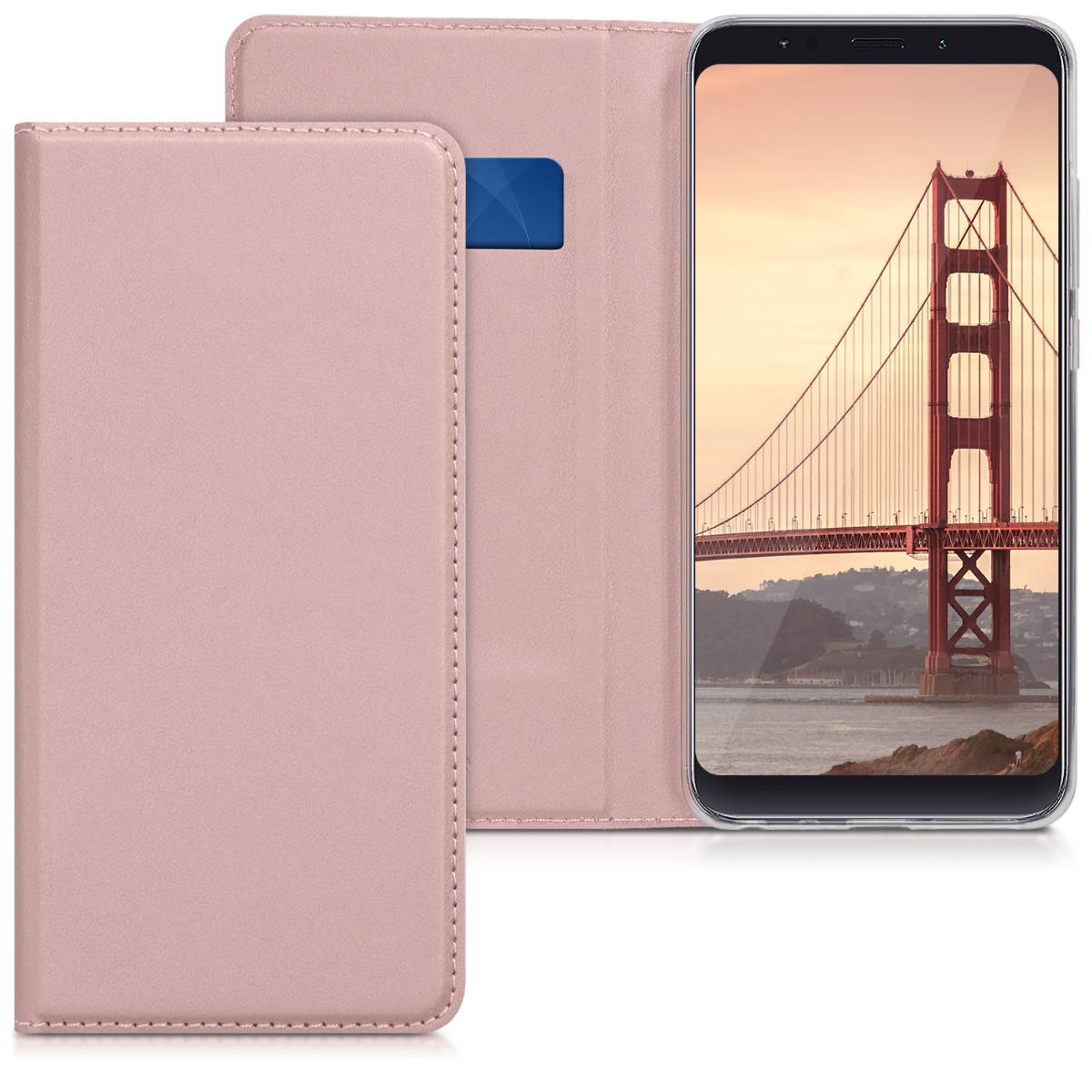 kwmobile Flip Case for Xiaomi Redmi Note 5 (Global Version) / Note 5 Pro - Smooth PU Leather Wallet Folio Cover with Stand Feature - Black KW-Commerce 45448.01_m000948