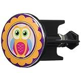 Wenko 21625500 Waschbeckenstöpsel Pluggy Eule Hedwig Abfluss-Stopfen, für alle handelsüblichen Abflüsse, Kunststoff, Mehrfarbig, 4 x 4 x 6,9 cm
