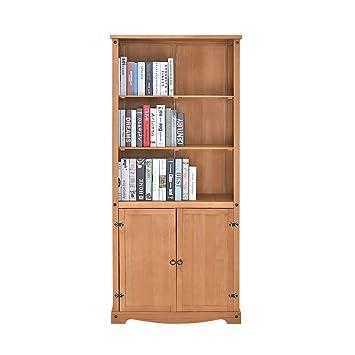 Kiefer Massiv 3 Etagen Regal 2 Tür Bücherregal Bücherregal