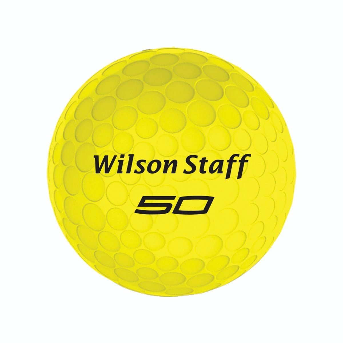 Wilson Staff  Fifty Elite Golf Balls, Yellow, Pack of 12 by Wilson