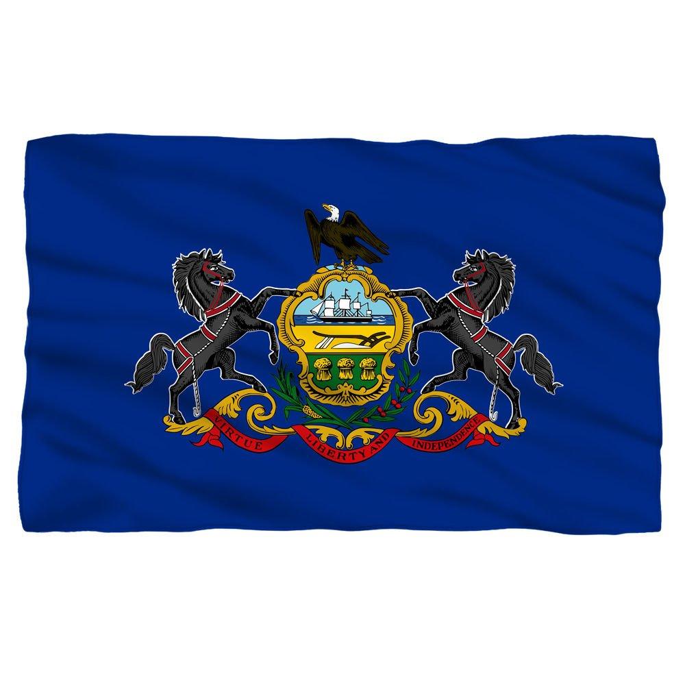 ペンシルベニア州状態フラグ – -フリーススローブランケット B01AZPHKHA