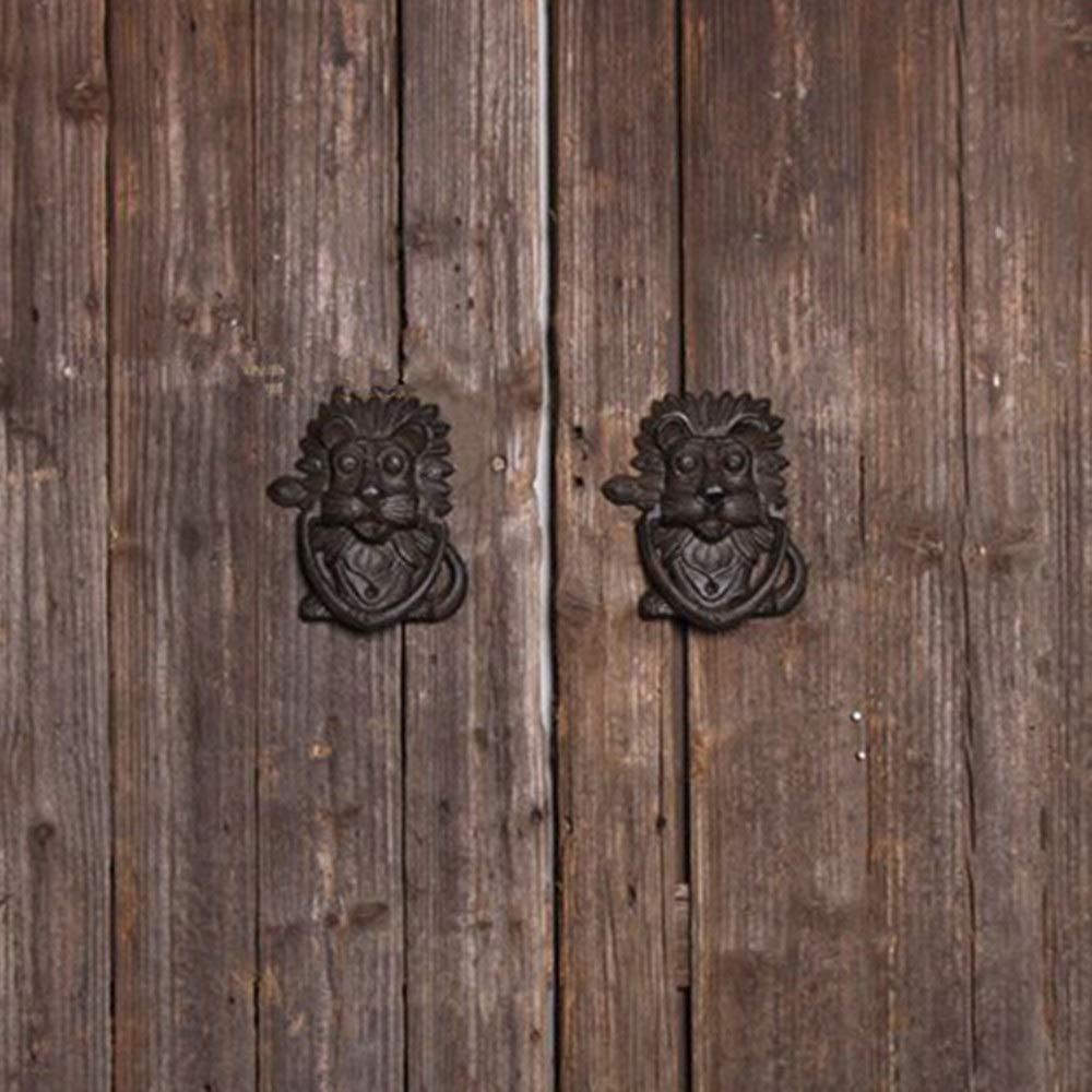 L/öwenkopf T/ürklopfer rustikale T/ürklopfer Griff Hof Stadthaus Manor Farbe : Antique, Gr/ö/ße : Einheitsgr/ö/ße KANGJIABAOBAO T/ürgriffe Retro Vintage Gusseisen Roheisen T/ürklopfer