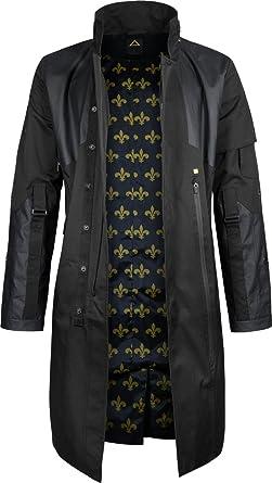5492aaf52c880 Musterbrand Deus Ex Trench-Coat Men Jensen V4.0 Cotton Jacket Black ...