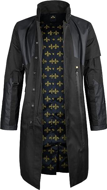 Musterbrand Deus Ex Abrigo-Gabardina Hombre Jensen V4.0 Chaqueta Negro XS: Amazon.es: Ropa y accesorios