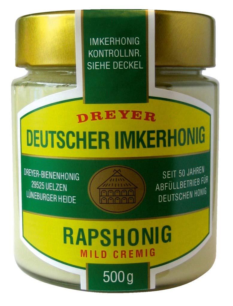 Dreyer - Echter Deutscher Rapshonig - 500g: Amazon.de: Lebensmittel ...