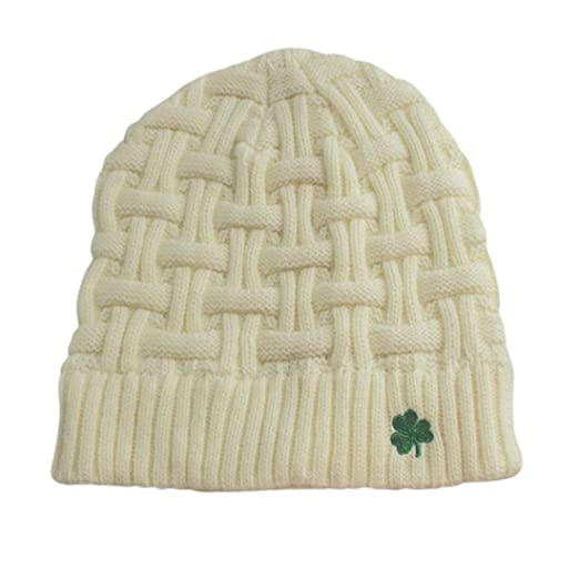 3f17f84c31e Man Of Aran Acrylic Basket Weave Beanie Hat Natural Colour with ...