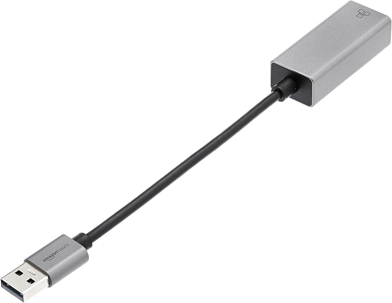 Basics Aluminum USB 3.0 Gigabit Ethernet Adapter