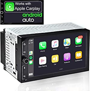 IYING 7 Inch Universal Double Din Car Radio Works with Apple CarPlay & Android Auto Touch Screen Bluetooth AM/FM Car Multimedia MP5 Player in-Dash Car Stereo Receiver