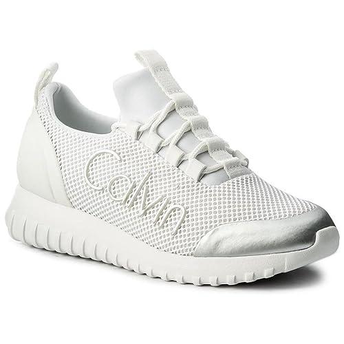 Calvin Klein Reika Noir White Silver R0666WHITESILVER, Deportivas: Amazon.es: Zapatos y complementos