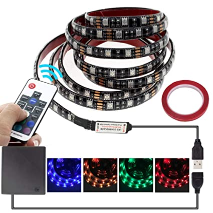 Amazoncom Led Strip Lights Battery Powered With Rf Remote