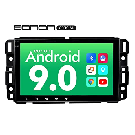 Eonon 8 Inch HD Full Touchscreen Android 9 0 Double Din Bluetooth with Rear  View Camera, Car Android Head Unit Applicable to Chevrolet GMC Silverado