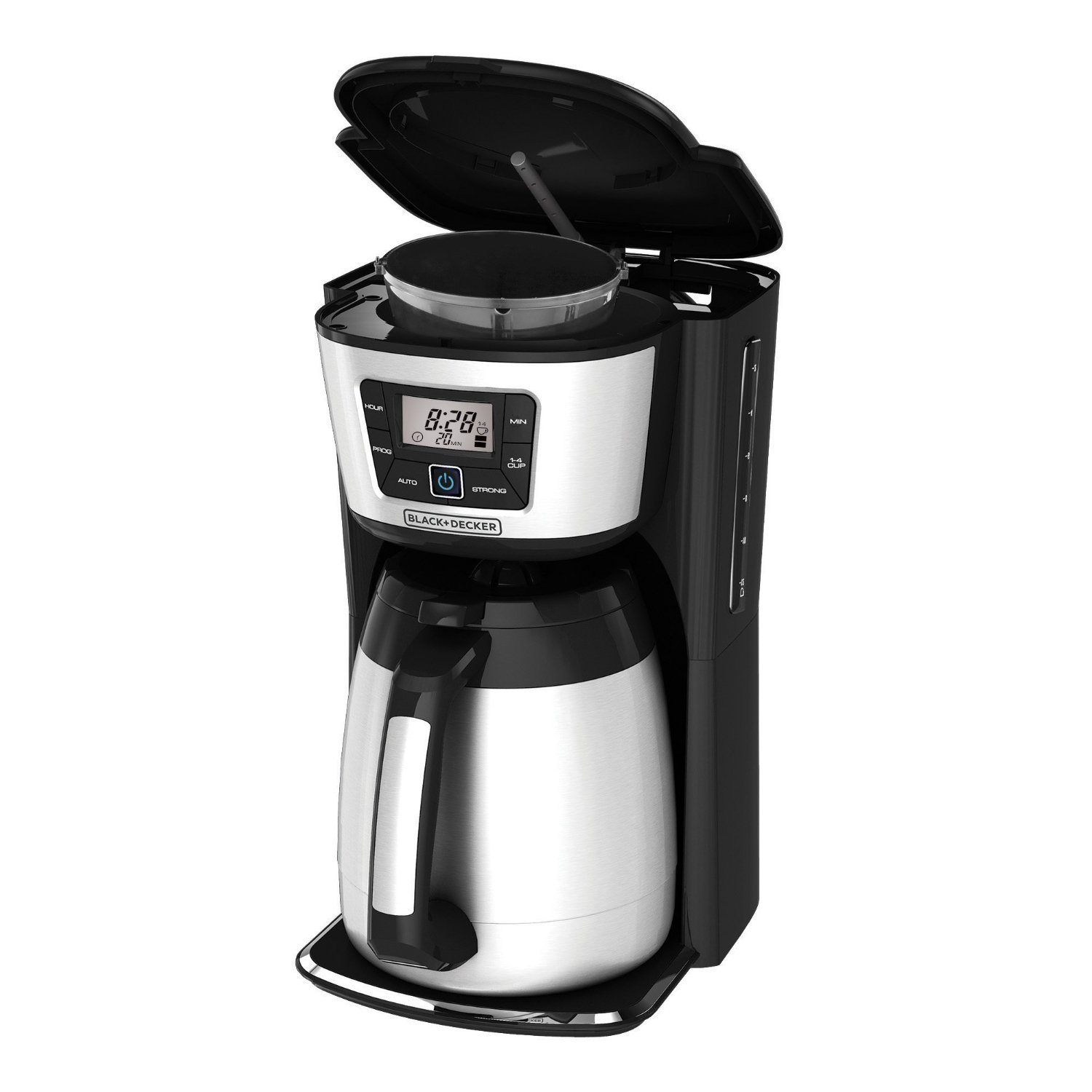 Black and decker 12 cup programmable - Amazon Com Black Decker Cm2035b 12 Cup Thermal Coffeemaker Black Silver Kitchen Dining