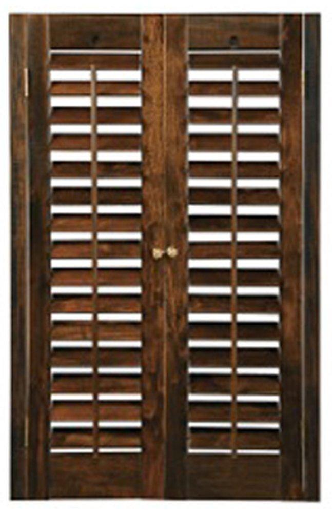 BassWood DIY Plantation 2 1/4'' Interior Shutter Kits (Walnut, 23-25'' W x 36'' H)
