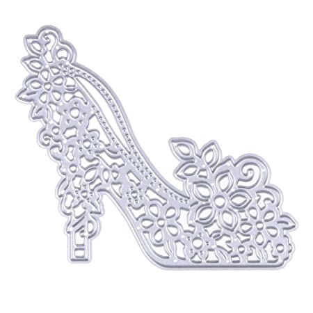Demiawaking Women High Heeled Shoes Cutting Dies Stencil For DIY Scrapbooking Album Card Making Embossing Template
