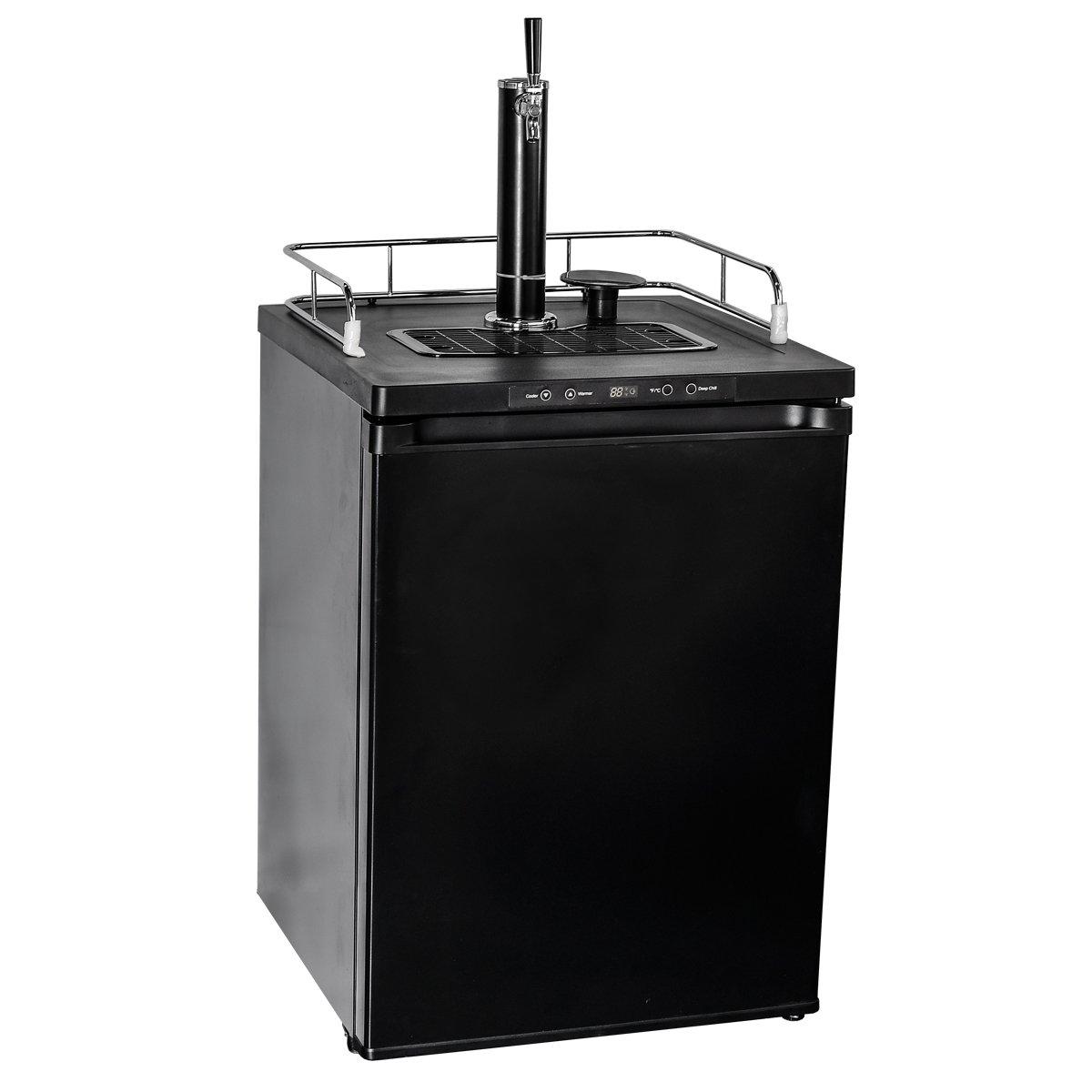 Smad Free Standing Beer Dispenser Electronic refrigerator, 5.6 cu ft,Black