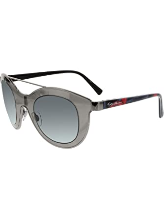 7410d5bdd96dde Giorgio Armani Women s AR6033-301087-39 Silver Shield Sunglasses at Amazon  Women s Clothing store