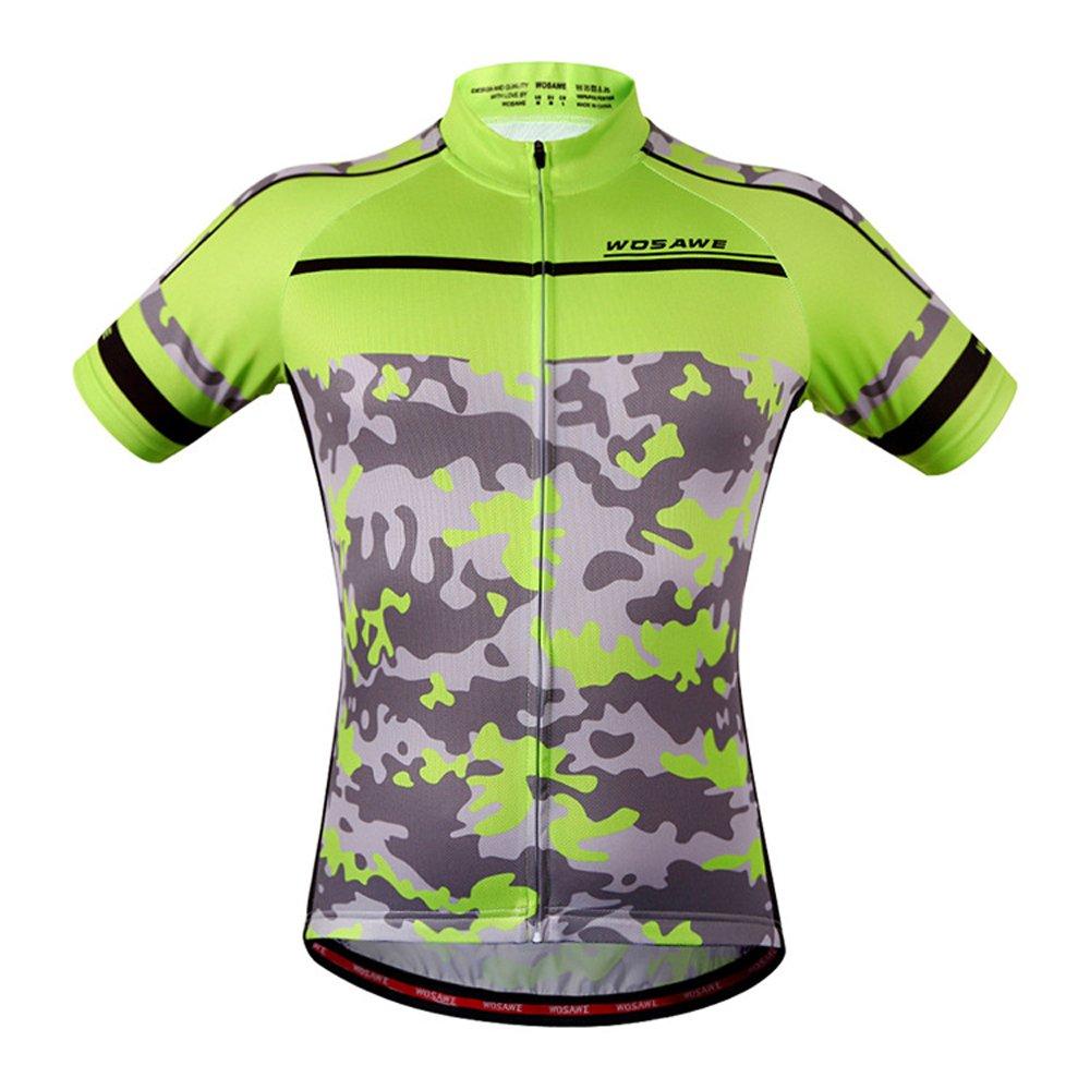メンズサイクリングジャージ迷彩シャツWOSAWEバイクシャツチームBiking Clothing B01MATC0BG Small|ジャージーズ(jerseys) ジャージーズ(jerseys) Small