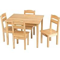 COSTWAY Juego Mueble para Niños Mesa y 4