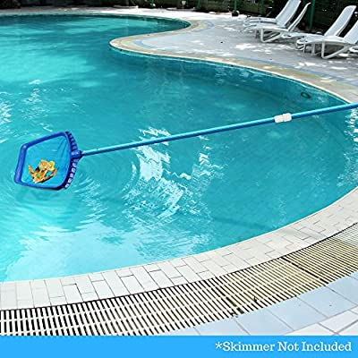 Aquatix Pro Swimming Pool Pole, 4 to 12 Feet, Professional Aluminium Telescopic Pole, Best for Skimmer Nets, Vacuum Heads and Brushes, Strong Grip & Lock, Ribbed Finish, 1.1mm Commercial Thickness