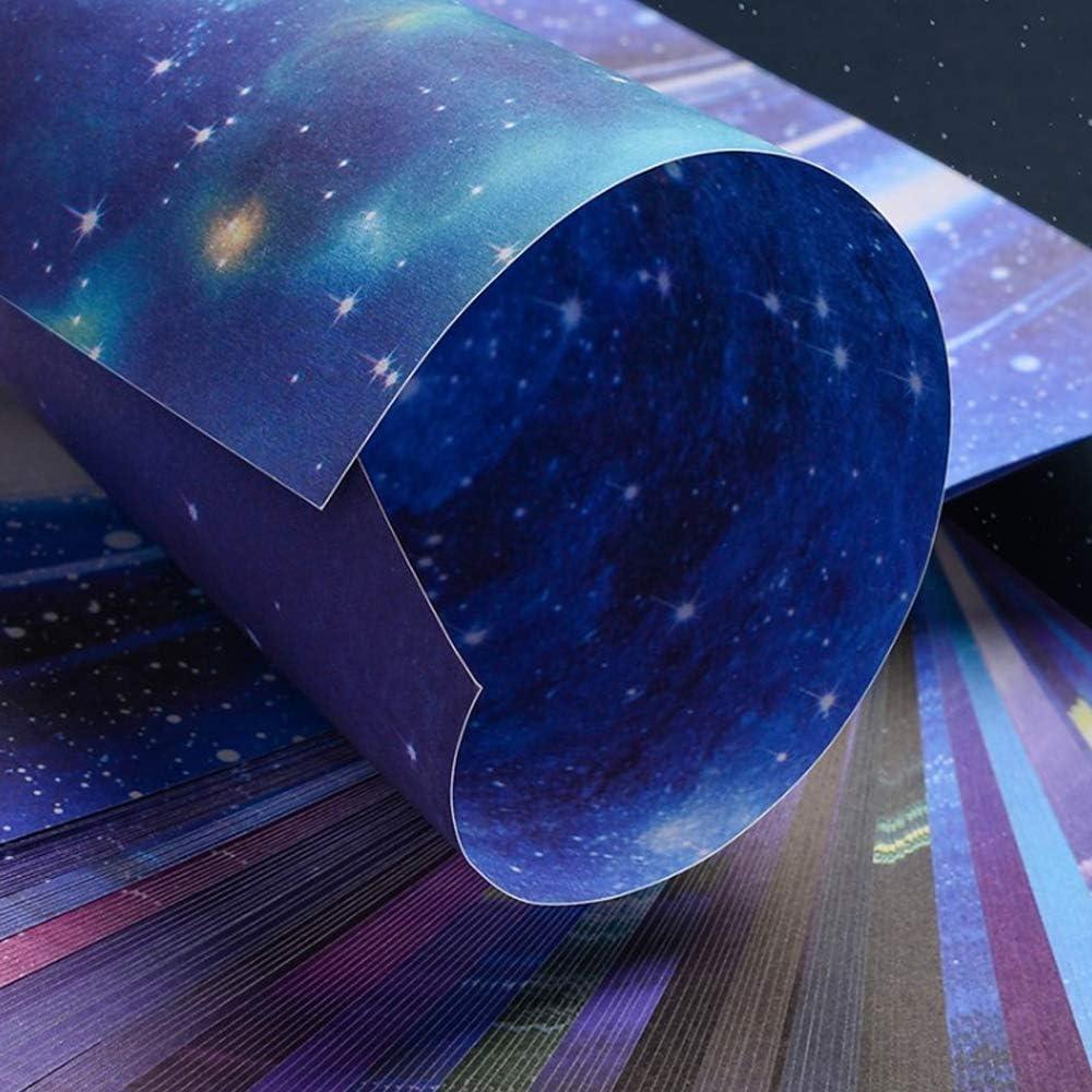 Doppelseitig Konstellation Nachthimmel Origami Papier Sternschnuppen der Sterne Farben Faltpapier 150 Blatt f/ür Origami DIY Kunst und Bastelprojekte Origami Papier 15 x 15 cm