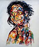 Artocrat - Anonymous Woman, The Collection, Modern Contemporary Decorative Wall Art, 100% Hand Painted Oil Paintings, 16x20 inch, Stretched and Ready to Hang