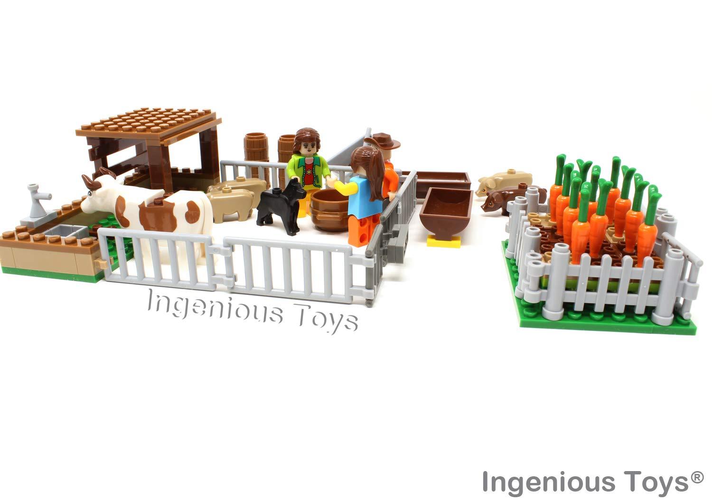 RARO FATTORIA GIARDINO SET ANIMALI pappa a forma di verdure in Crescita /& AGRICOLTORI CREATORE da Ingenious Giocattoli #28501