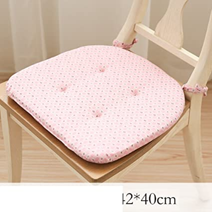 Attrayant LJu0026XJ Dining Chairs Cushion,Thickened Round Chair Pads Simple Chair Pads  With Ties Seat Cushion