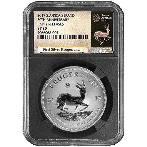 2017 ZA South African 50th Anniversary 1 oz Silver Krugerrand FR Krugerrand Label Retro Core - SP70 NGC