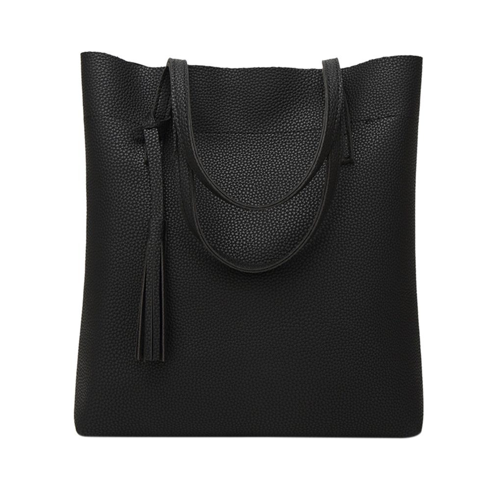 1610a6ba34 Amazon.com  ThinkMax Fashion Top-handle Bag Women Soft Leather Work Tote  Large Capacity Tassel Handbags  Shoes