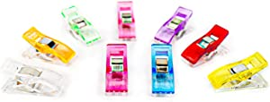 40 PCS Premium Sewing Clips Multipurpose for Fabric Quilting Crafts Hanging & Paper Work, Assorted Colors, Quilting Supplies