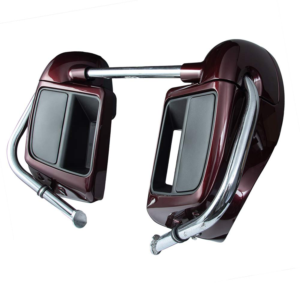 Amazon.com: Twisted Cherry Lower Vented Leg Fairing Kits with Glove Box for Harley Davidson Touring Street Road King Glide FLTR 2014 2015 2016 2017 2018: ...