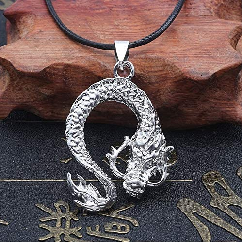 Inveroo Vintage Dragon Necklace for Men Titanium Steel Pendant Necklaces Retro Personalized Male Unisex Jewelry Gifts