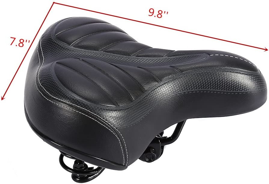Estink Bike Seat,Mountain Bike Seat Breathable Comfortable Bicycle Saddle with Waterproof Wide Big Bum Bicycle Sporty Soft Pad for Road Mountain Bike