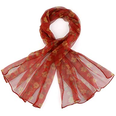 c6969cf016ab Foulard mousseline de soie La Roja - Couleur - Rouge  Amazon.fr ...