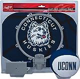 NCAA Connecticut Huskies Kids Slam Dunk Hoop Set, Blue, Small