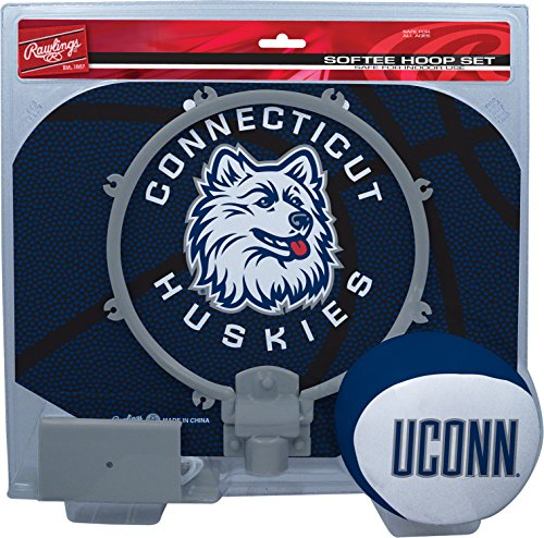 NCAA Connecticut Huskies Kids Slam Dunk Hoop Set, Blue, Small ()