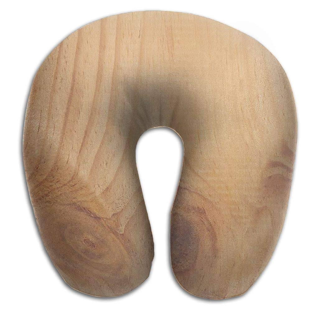 Neck Pillow with Resilient Material Tree Stump Wood Grain U Type Travel Pillow Super Soft Cervical Pillow