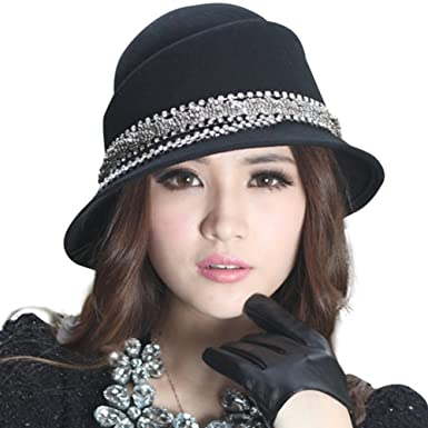 June s Young Women Hats Winter Cloche hats Bucket Stones Casings at ... c96a87438c0