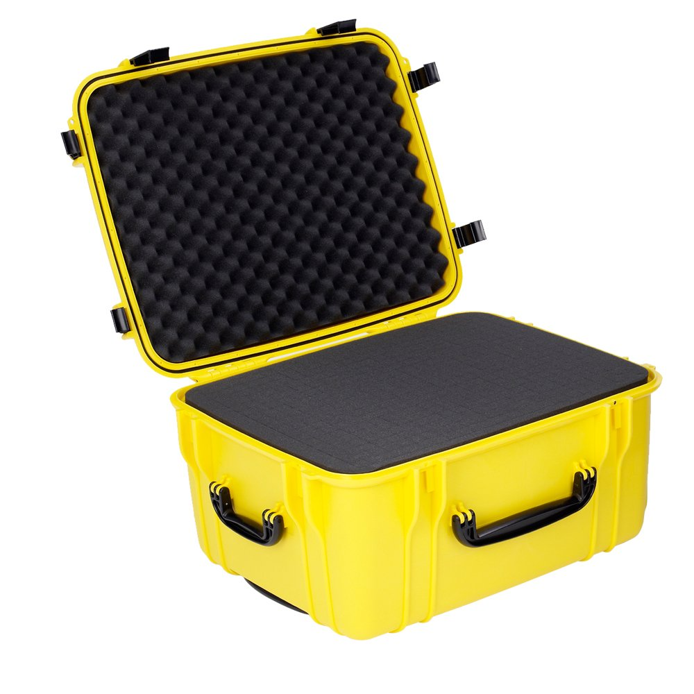 Seahorse SE1220 Protective Wheeled Case with Foam (Yellow)