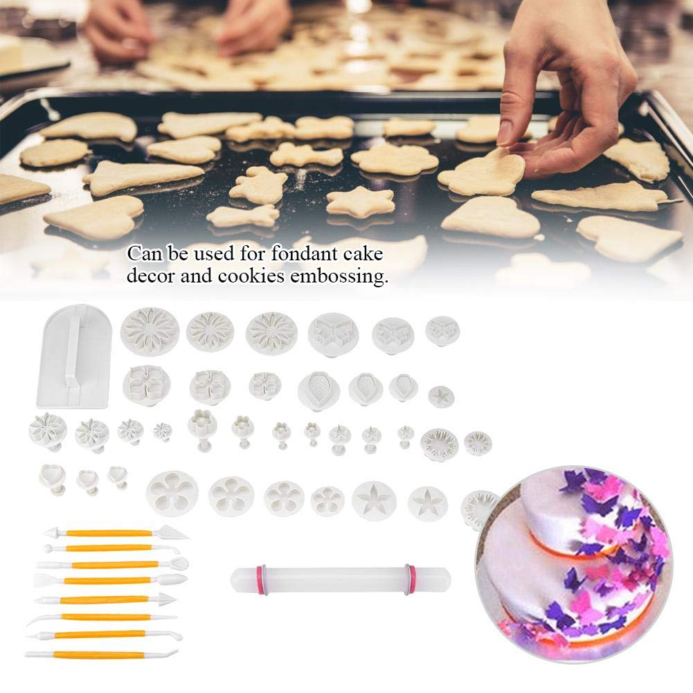 Fondant Cake Mold Decoration Baking Tool, 14 Kinds 46 Pcs Fondant Cutters Molds Cookies DIY Cake Decoration Pastry Baking Tool by Taidda (Image #3)