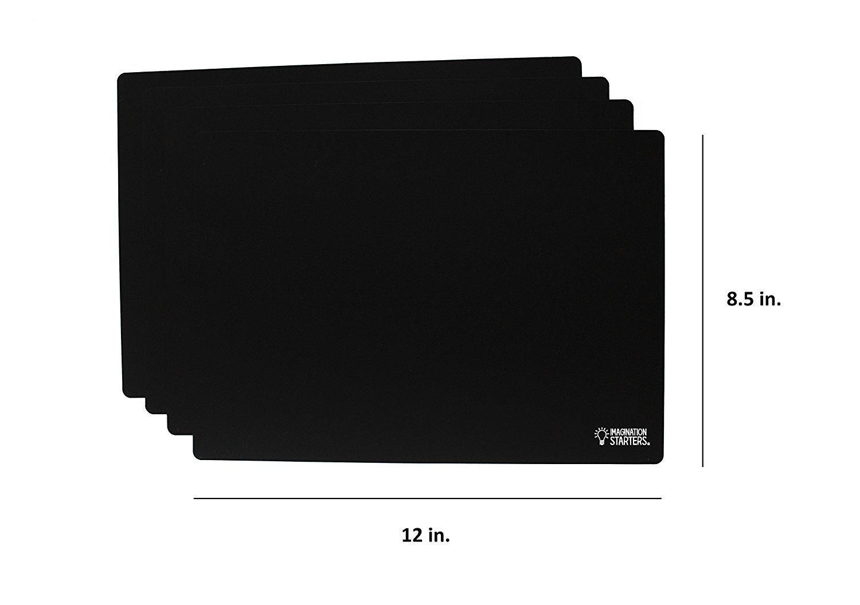 Imagination Starters Reusable Washable 8.5'' x 12'' Travel Size Flexi-mat Chalkboard Placemats- Draw, Color, Doodle - Set of 4 by Imagination Starters (Image #2)