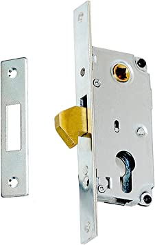 Cerradura de gancho 72/30 para puerta corredera de cilindro: Amazon.es: Bricolaje y herramientas