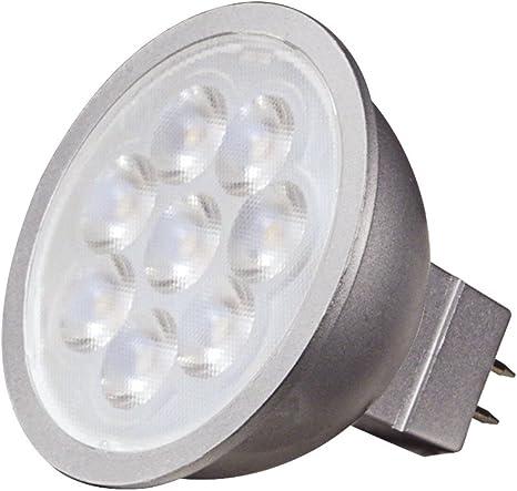 SATCO S9491 6.5W MR16 3000K 12V Energy Savings LED GU5.3 Base White Light Bulb