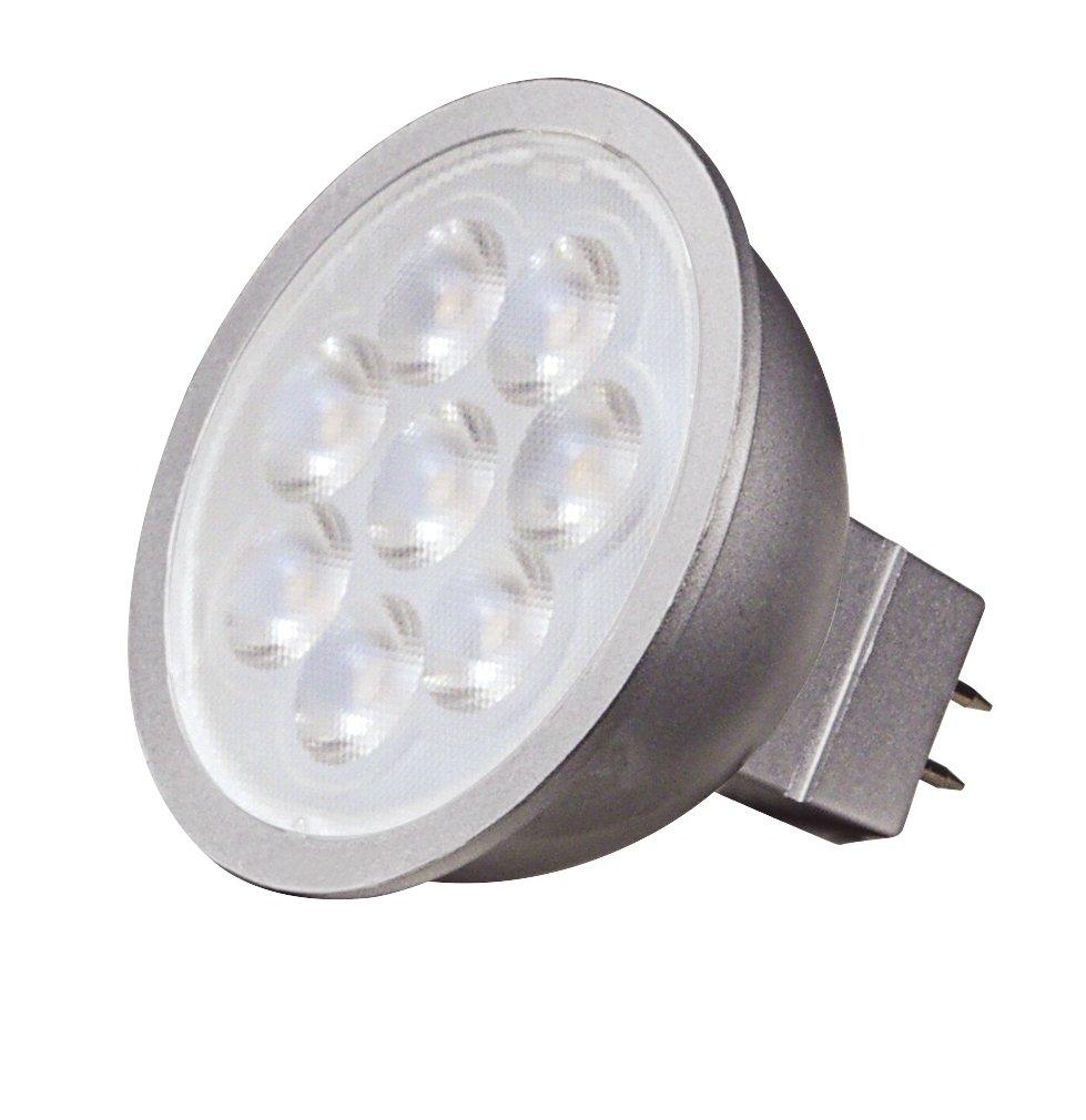 Satco S9496 6.5W LED MR16 LED 3000K 40\' Beam Spread GU5.3 Base 12V ...