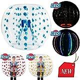 SSELF 5ft Diameter, Bubble Soccer Ball, Human Hamster Zorb Ball for Kids Adults Parties Rentals (Blue Dot, 5ft (1.5m))
