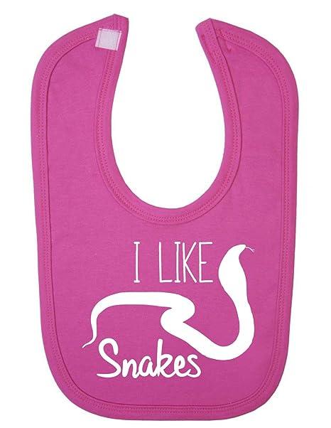 Bebé Shopagift - I Like Snakes recién nacido babero rosa rosa ...